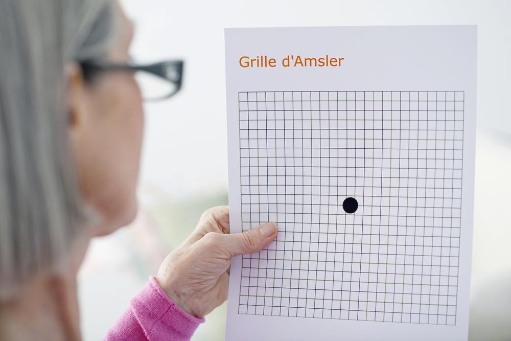 用阿姆斯勒方格表檢測黃斑部病變症狀